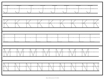 Alphabet Tracing Strips