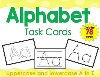Alphabet Tracing Task Cards