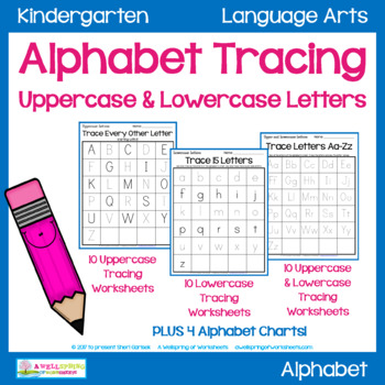 photo about Printable Traceable Alphabet Chart for Upper and Lower Case identify Alphabet Tracing Worksheets - Uppercase Lowercase Letters