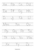 Alphabet Tracing Worksheet | Alphabet Practice Page