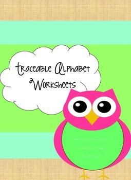 Alphabet Tracing Worksheets