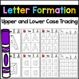 Alphabet Tracing Worksheets - Letter Formation Cards Distance Learning Preschool