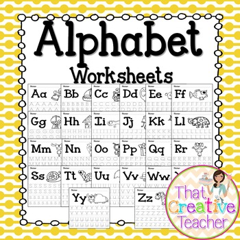 Alphabet Tracing Worksheets A Z By That Creative Teacher Tpt