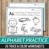 Alphabet Tracing Worksheets, Alphabet Coloring Page Beginning Sounds Worksheets