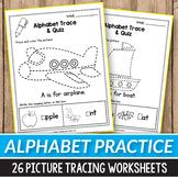 Alphabet Tracing Worksheets -  Fine Motor Skills Practice