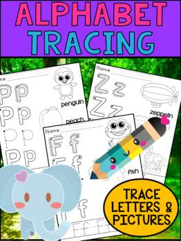 Alphabet Tracing Worksheets - SET TWO - Peppy Pencil