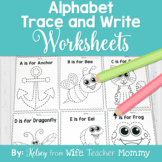 Alphabet Tracing Worksheets for Preschool and Kindergarten