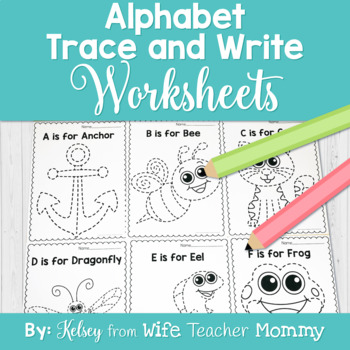 Alphabet Trace Worksheet Teaching Resources | Teachers Pay Teachers