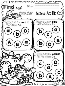 Alphabet Tracing, Writing and Coloring Printables