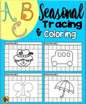 Alphabet Tracing and Coloring Seasonal Printables