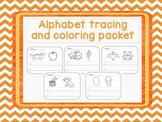 Alphabet Tracing and Coloring Sheets