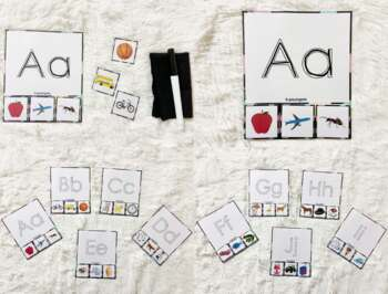 Alphabet Tracing and Picture Matching Activity, Phonics Activity/ Game