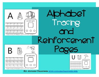 Alphabet Tracing and Reinforcement Pages