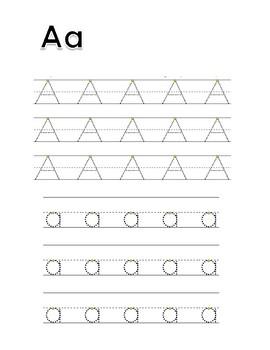 Alphabet Tracing and Vocabulary