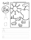Letter A Trace and Write Worksheet