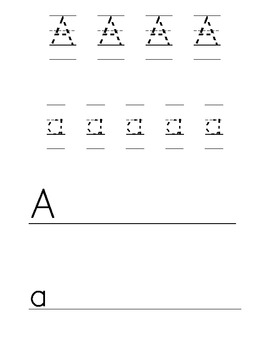 Alphabet Tracing and Writing Pages