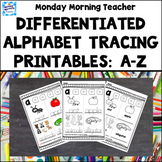 Distance Learning Alphabet Tracing & Writing Printables Ac