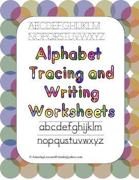 Alphabet Tracing and Writing Worksheets (Commom Core)