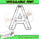 Alphabet tracing letters font (INSTALLABLE), correct letter formation fonts