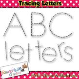 Alphabet Tracing letters font clip art