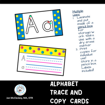 Alphabet Trade and Copy Cards for Pencil Box Work Tasks