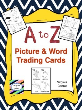 Alphabet Trading Cards---Words and Pictures