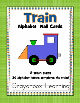 Alphabet Train Word Wall Cards - 2 Sets
