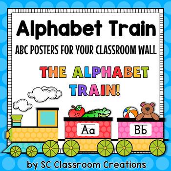 Alphabet Train ABC Posters-Classroom Decor