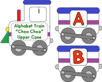 Alphabet Train Choo Choo Upper and Lower case (Common Core)