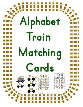 Alphabet Train Matching Cards