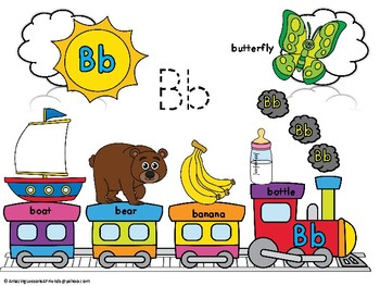 Alphabet Train Posters and Coloring Sheets Aa Thru Zz
