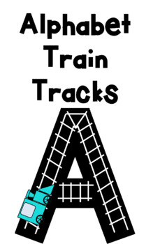 Alphabet Train Tracks BLACK