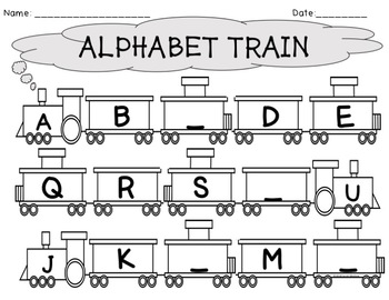 Alphabet Train Writing Worksheets