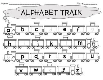 Alphabet Train Writing Worksheets by The Wonderful World ...