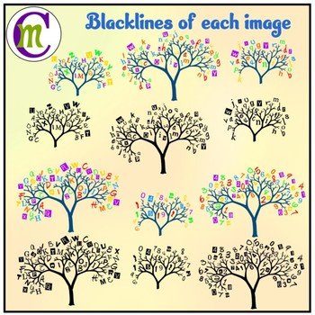 Alphabet Trees Clipart   Number Trees Clipart