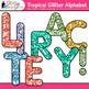 Tropical Glitter Alphabet Clip Art | Great for Classroom Decor & Resources