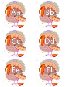 Alphabet Turkey Cards
