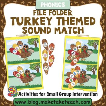 Alphabet - Turkey Feathers File Folder Alphabet Match