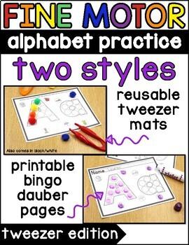 Alphabet Tweezer Activities {Fine Motor Activities}
