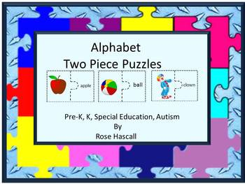 Alphabet Puzzles, Word Matching, Literacy Centers, Summer Special Education