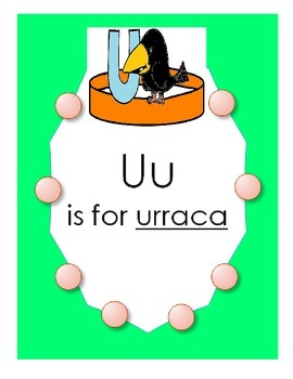 "Alphabet ""U is for urraca"" Spanish hat patterns (5 versions)"