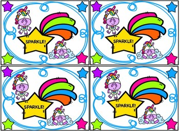 Alphabet Unicorn Sparkle