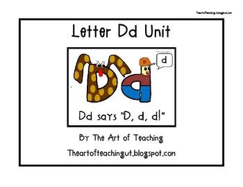 Alphabet Unit: Letter Dd
