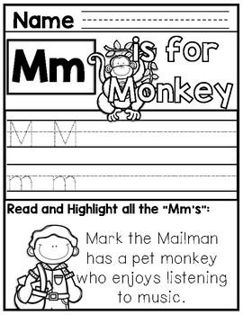 Community Helper Alphabet Unit  M-Z
