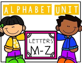 Alphabet Unit M-Z