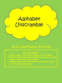Alphabet Unscramble Full Version