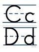 Alphabet Upper Case and Lower Case Letters: Set 1