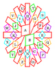 Alphabet Upper Lower Case Match Snowflake Bulletin Board Cut and Paste Color 14p