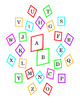 Alphabet Upper Lower Case Match Snowflake Bulletin Board C