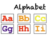 Alphabet Upper Lower Colorful, 4 page, wall poster